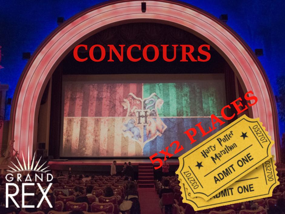 CONCOURS : 5×2 tickets pour le marathon Harry Potter au Grand Rex !
