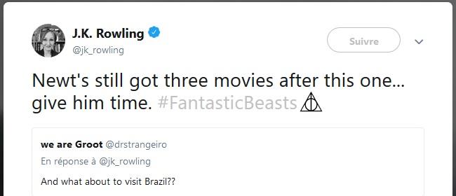 J.K. Rowling suggère une future destination de Newt dans la suite des Animaux fantastiques