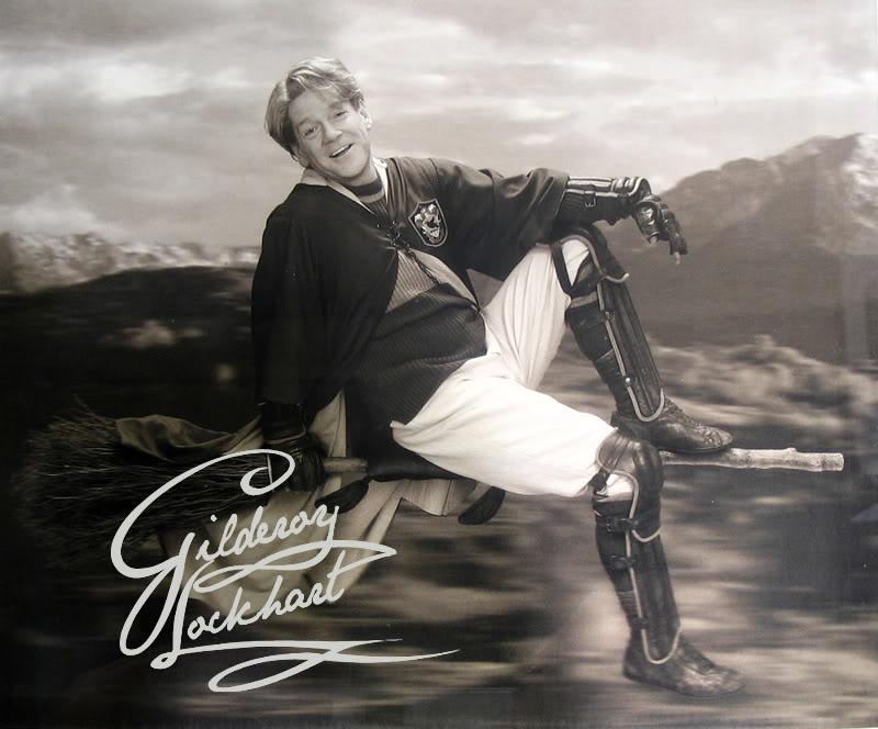 Photo de Gilderoy Lockhart en joueur de quidditch