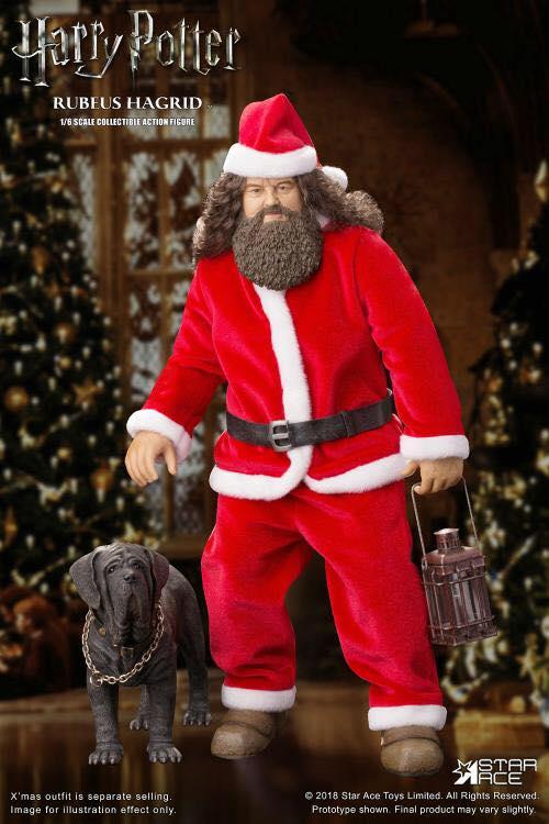 Rubeus Hagrid en Père Noël