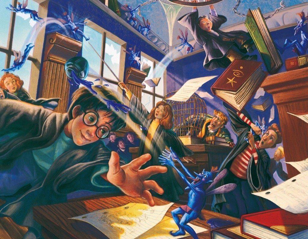 Illustration du cours de Lockhart sur les lutins de cornouailles par Mary Grandpré