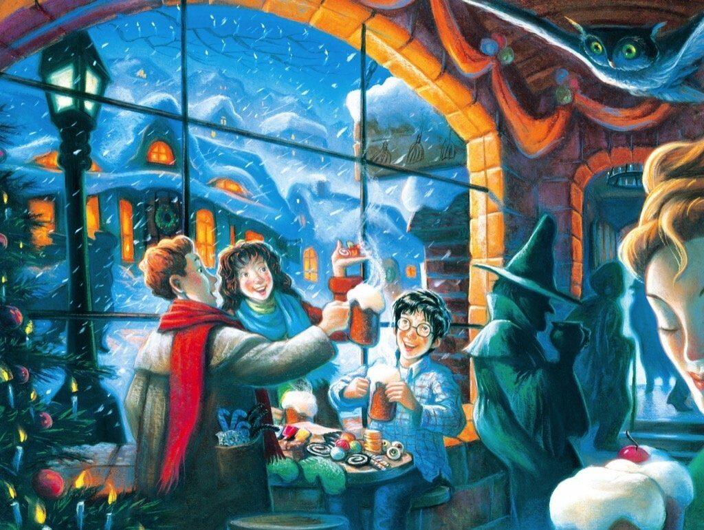Illustration aux Trois Balais par Mary Grandpré