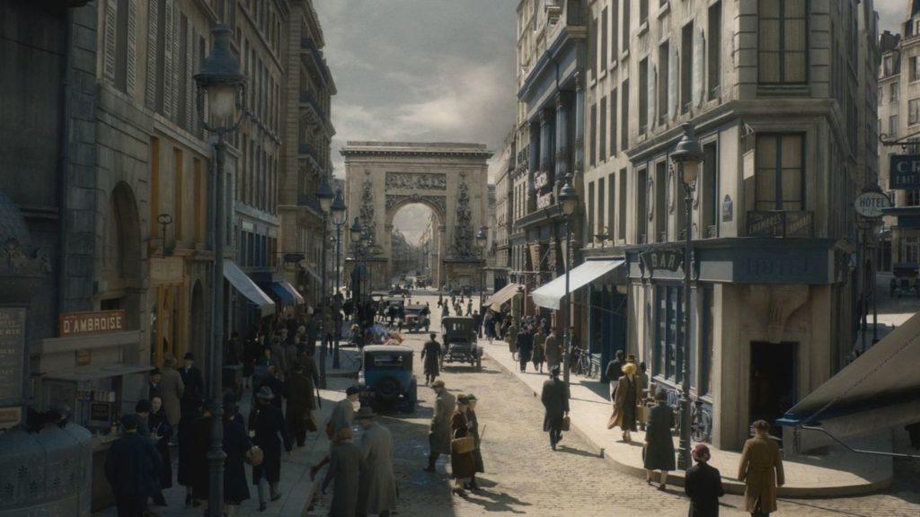 La porte St Denis à Paris dans Les ANimaux Fantastiques Les Crimes de Grindelwald
