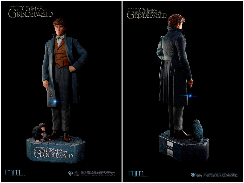 Une statue taille réelle de Newt Scamander