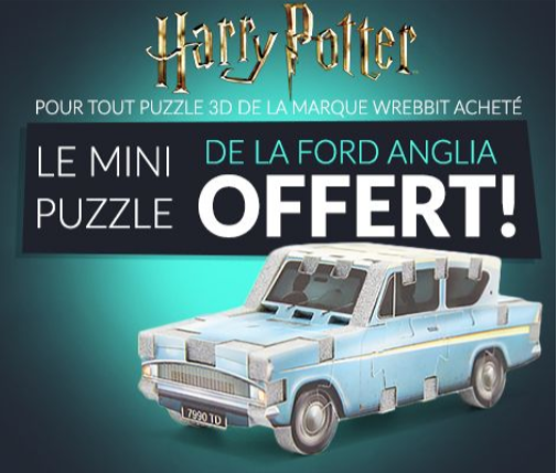 Un puzzle 3D Harry Potter exclusif offert sur Sylvoë