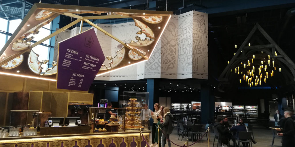 Le chocolate frog café au Warner Bros Studio Tour London - The Making of Harry Potter - Inauguration Gringotts