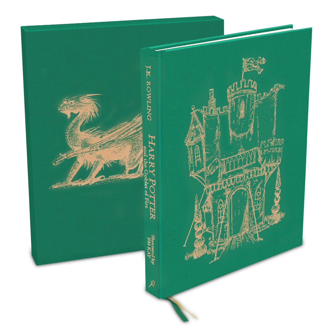 La couverture Deluxe de Harry Potter 4 illustré chez Bloomsury