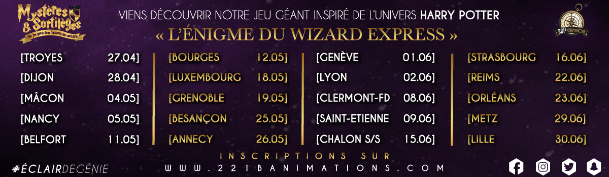 """Rassemblez-vous pour le jeu géant """"Le mystère du Wizard Express"""" !"""