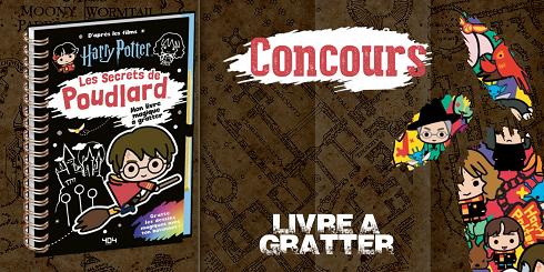 CONCOURS : remportez un exemplaire du livre à gratter «Les Secrets de Poudlard»