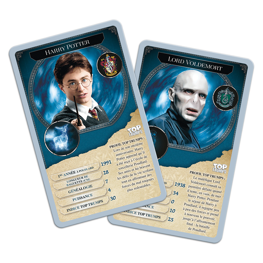 Top Trumps Harry Potter cartes de Harry et Voldemort