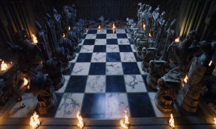 Les coulisses de la partie d'échecs sorciers (Harry Potter à l'école des sorciers)