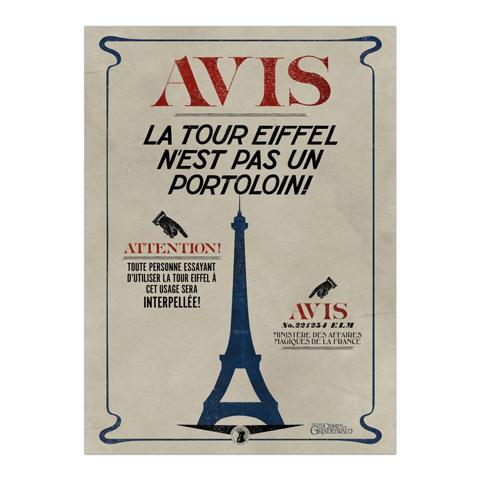 Affiche MinaLima La Tour Eiffel n'est pas un portoloin