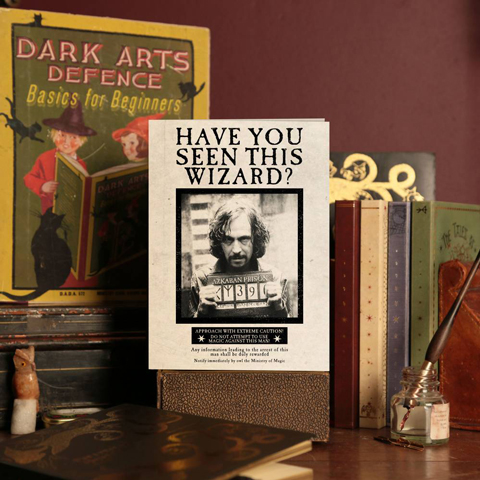 Carte de Voeux MinaLima Sirius Black Avez-vous-vu-ce-sorcier ?