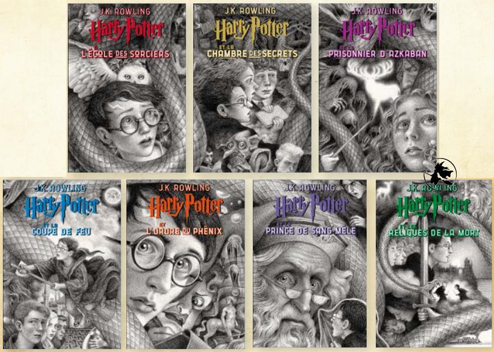 Couvertures de Harry Potter par Brian Selznick