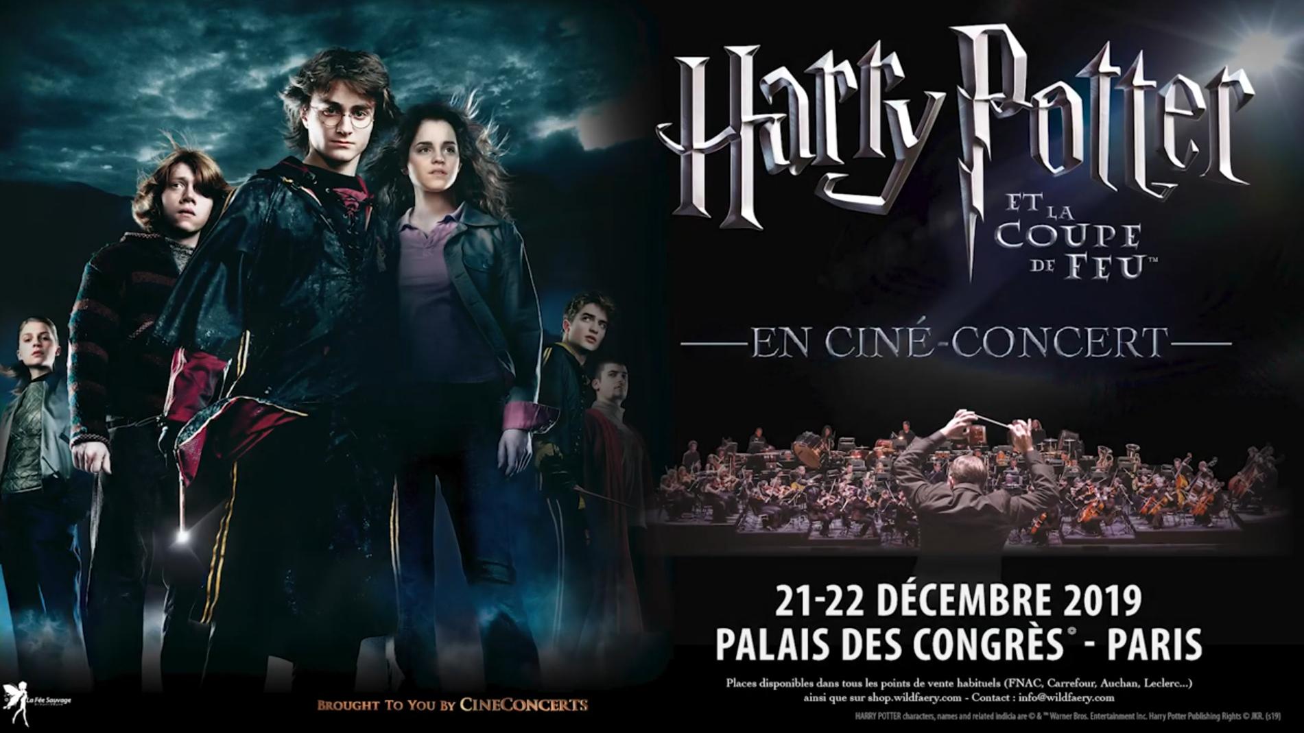 Cinéconcert Harry Potter et la Coupe de Feu à Paris !