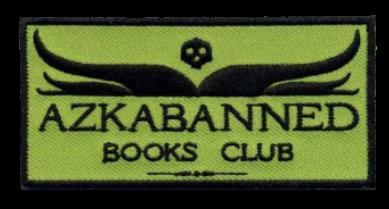 logo du Azkabanned Books Club, célébrant les livres interdits