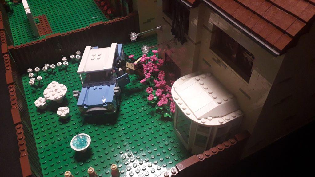 Le sauvetage en Ford Anglia volante à Privet Drive en LEGO