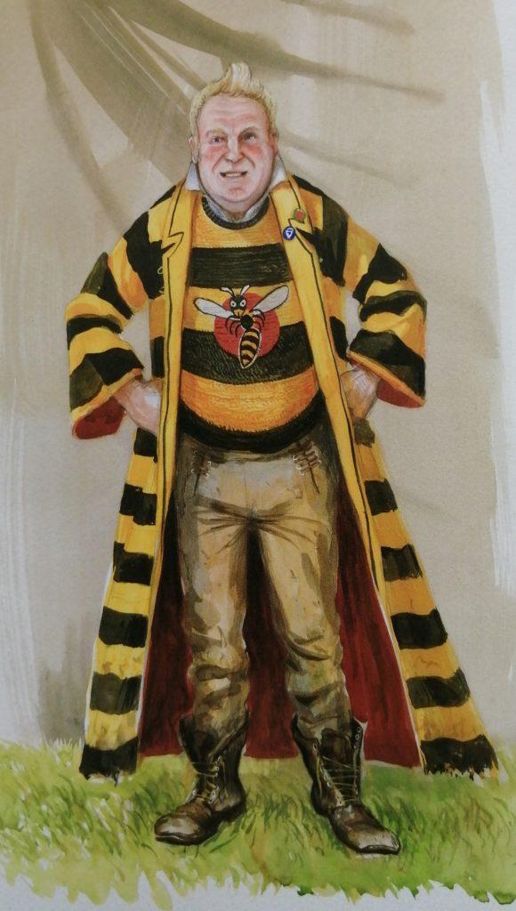 Portrait de Ludo Verpey par Jim Kay dans Harry Potter et la coupe de feu illustré