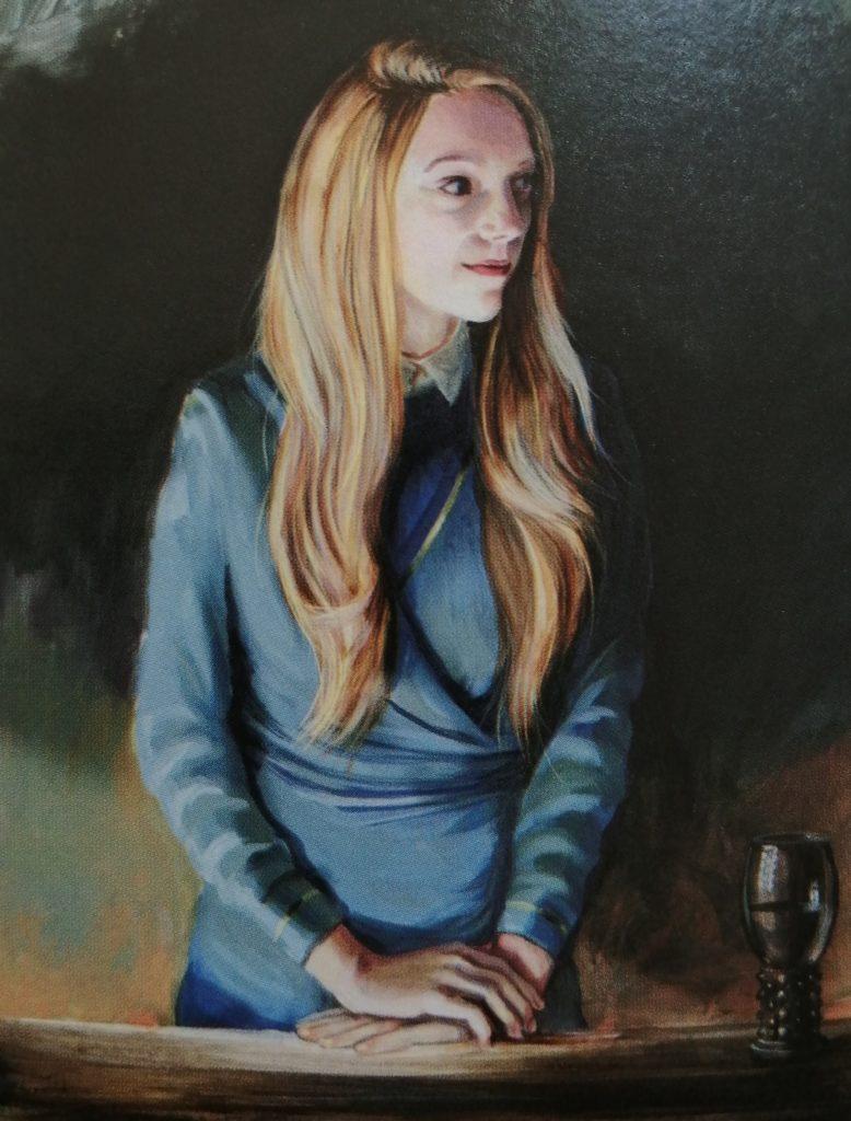Portrait de Fleur Delacour par Jim Kay dans Harry Potter et la coupe de feu illustré