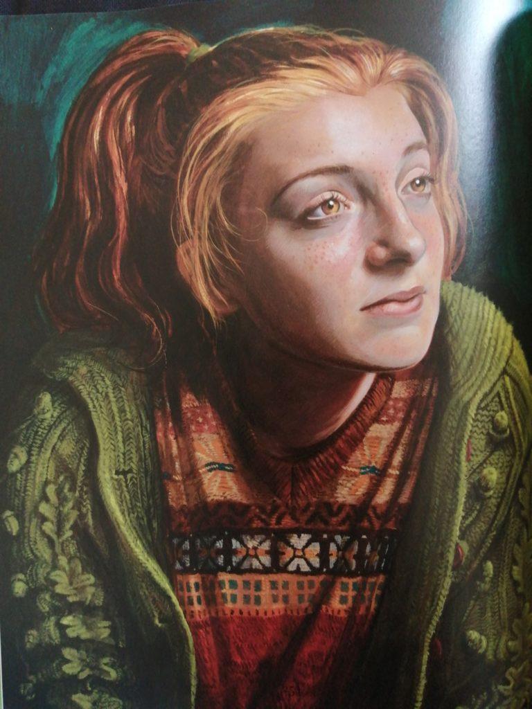 Portrait de Ginny Wealsey, par Jim Kay dans Harry Potter et la coupe de feu illustré