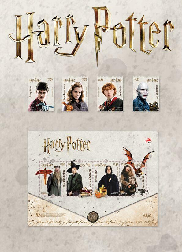 Nouvelle collection de timbres Harry Potter au Portugal !