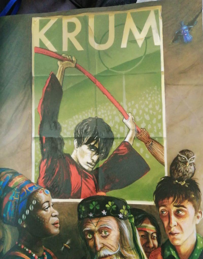 Affiche représentant l'attrapeur Viktor Krum par Jim Kay dans Harry Potter et la coupe de feu illustré