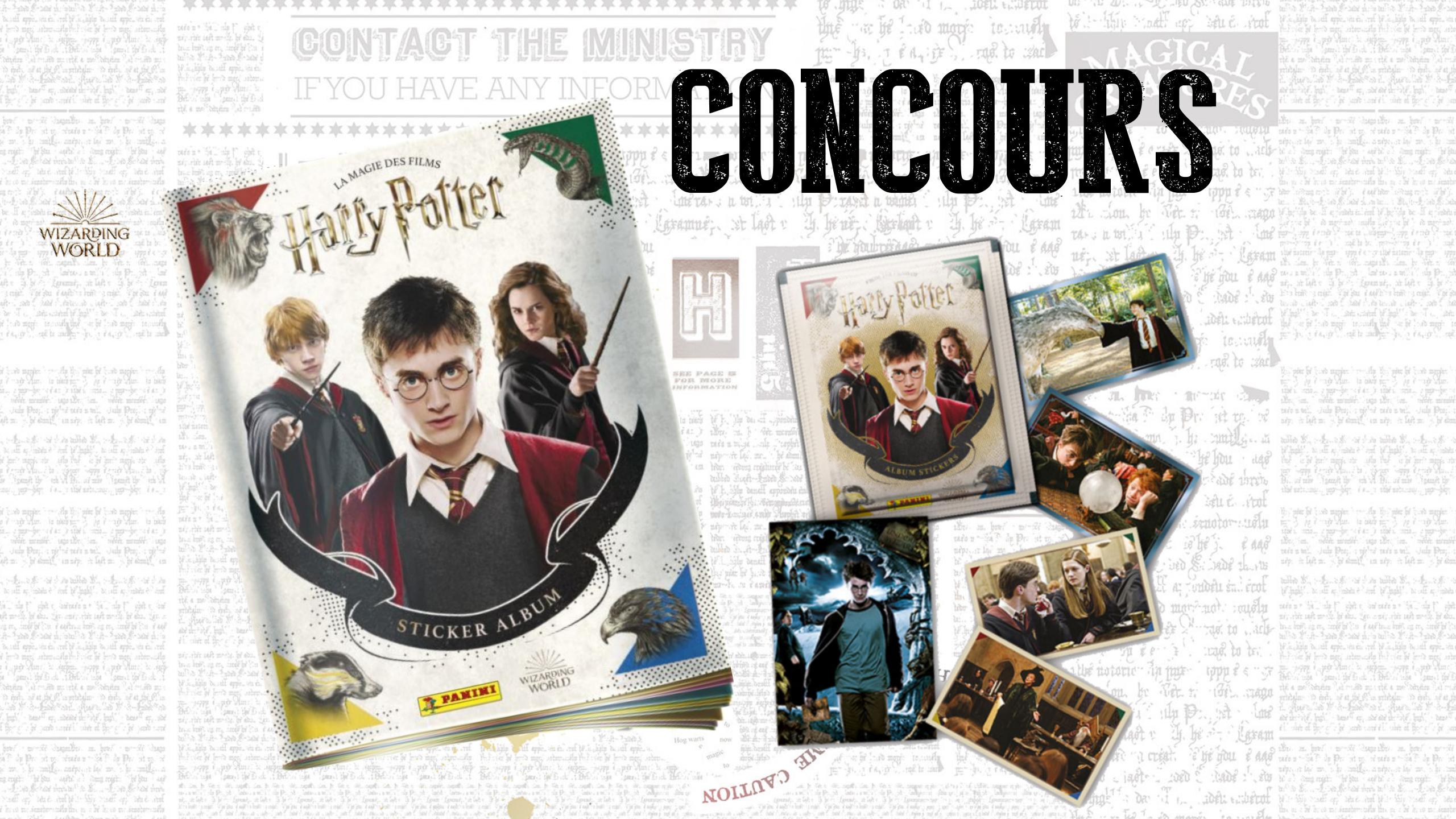 Concours : 6 albums Panini Harry Potter à gagner !
