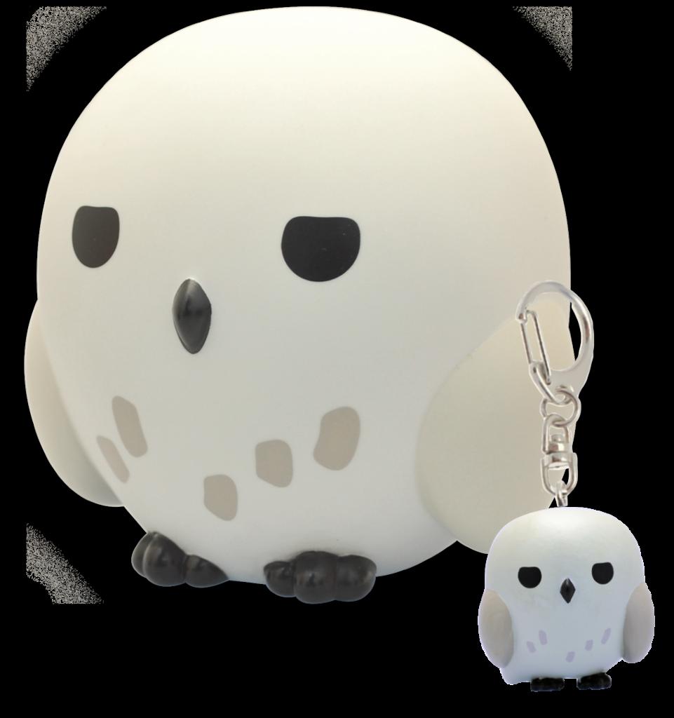 Hedwige chouette Chibi Plastoy - tirelire et porte clé