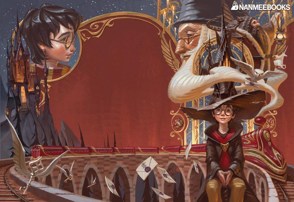 Harry Potter à l'école des sorciers – couverture Thaïlandaise 2020 complète – แฮร์รี่ พอตเตอร์กับศิลาอาถรรพ์
