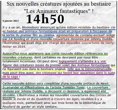 Article de la Gazette du sorcier plagié par UHP
