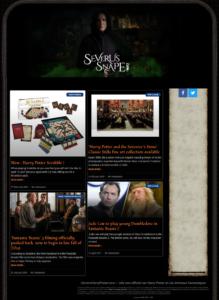 capture d'écran de severussnape.com, site en anglais tenu par UniversHarryPotter (UHP)