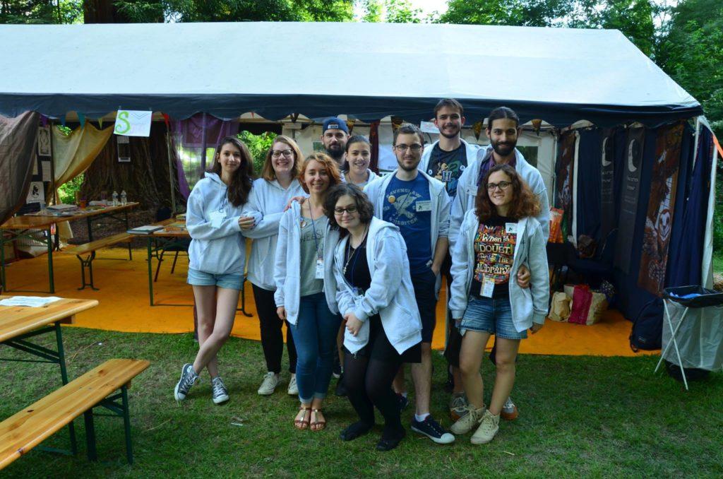 équipe de la Gazette du Sorcier en festival