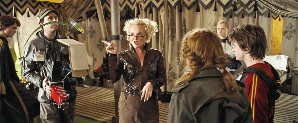 Rita Skeeter en pleine interview