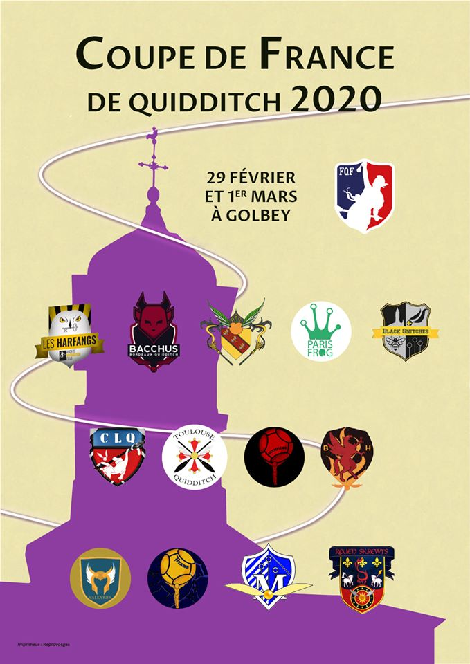 affiche de la coupe de france de quidditch 2020