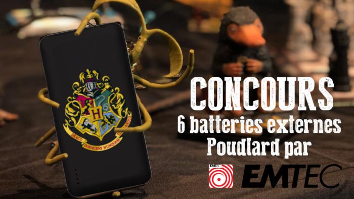 CONCOURS : 6 batteries externes Poudlard à gagner !