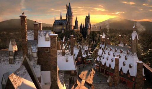 Pré-au-lard et Poudlard au land Harry Potter d'Orlando