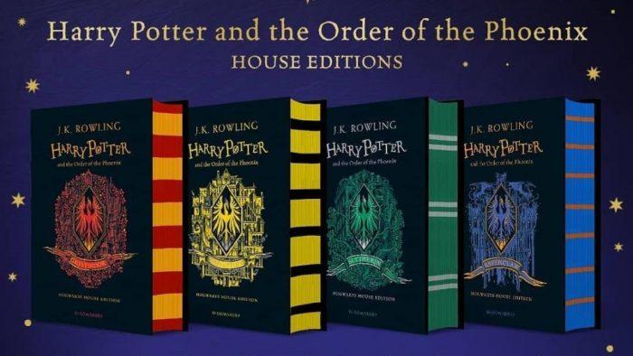 Les couvertures de Harry Potter et l'ordre du phénix édition 4 maisons dévoilées !