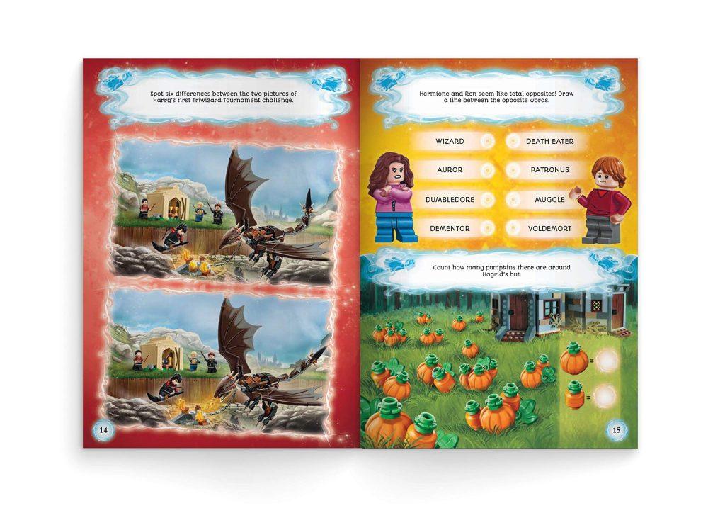 Livre LEGO - Aventures à Poudlard, page de jeux