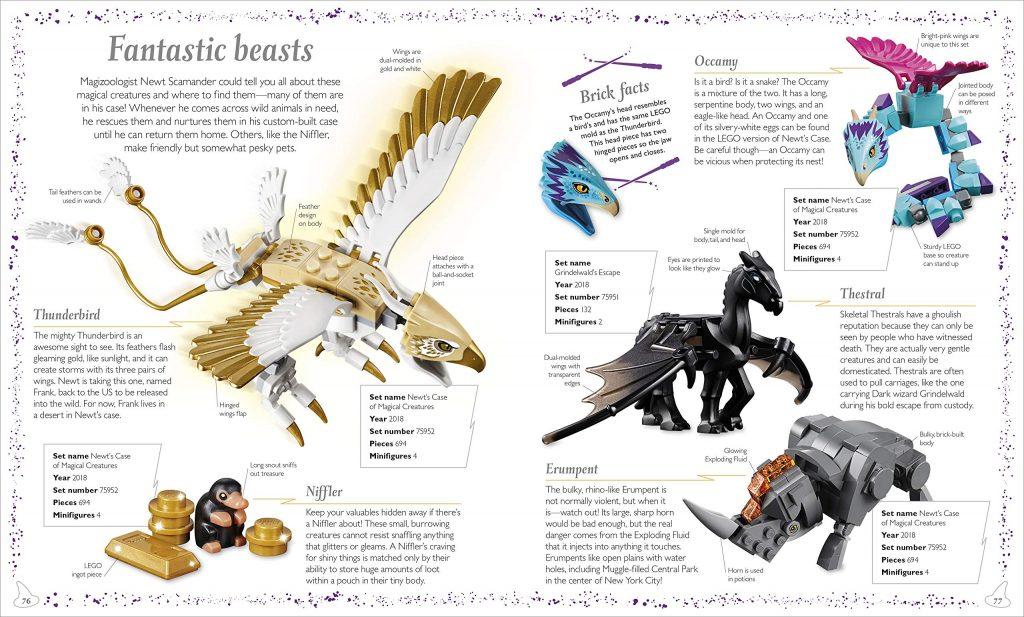 LEGO Harry Potter : Magical Treasury page sur les Créatures Fantastiques