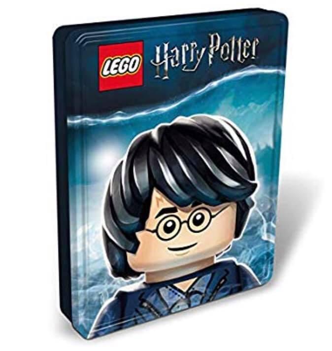 Boite métallique LEGO Harry Potter contenant 4 livres LEGO Harry Potter