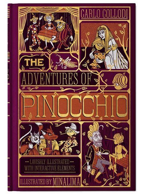 Couverture du livre Les aventures de Pinocchio illustré par MinaLima
