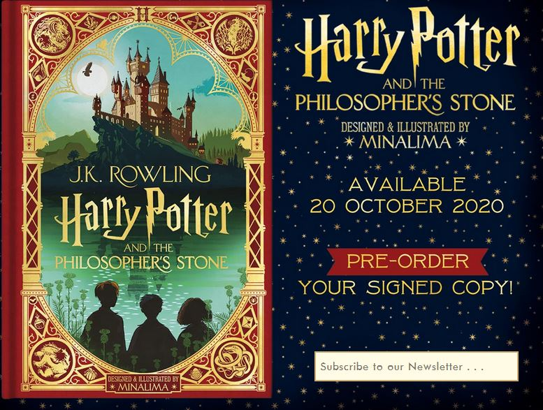 Affiche précommande Harry Potter and the Philospher's Stone illustré par MinaLima