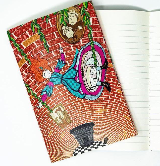 Carnet souple couverture et intérieur Alice au pays des merveilles illustré par MinaLima