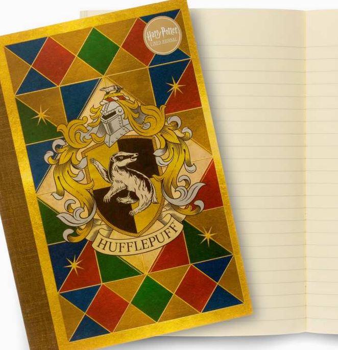 Carnet souple couverture et intérieur Poufsouffle illustré par MinaLima