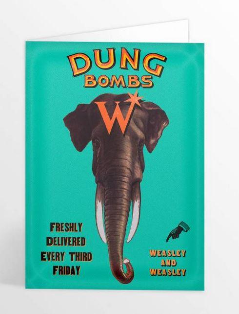 Carte de voeux Dung Bombs illustré par MinaLima