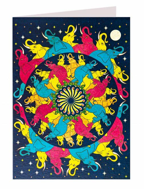 Carte de voeux Danse des éléphants illustré par MinaLima