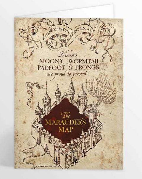 Carte de voeux Carte du Maraudeur illustré par MinaLima