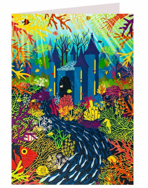 Carte de voeux Palais de la petite sirène illustré par MinaLima