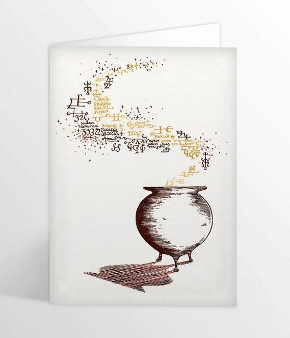 Carte de voeux Chaudron illustré par MinaLima