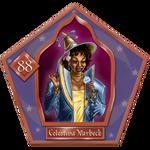 carte magique Chocogrenouille Celestina Warbeck
